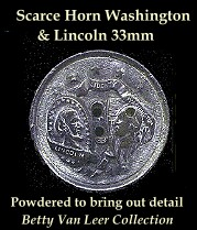Washington Lincon Button