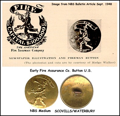 historical fire uniform button